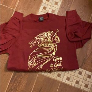 NWT Glory to God in the highest sweatshirt size L